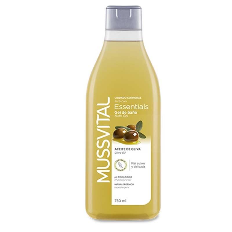 Mussvital Essentials Gel de Baño de Aceite de Oliva 750ml