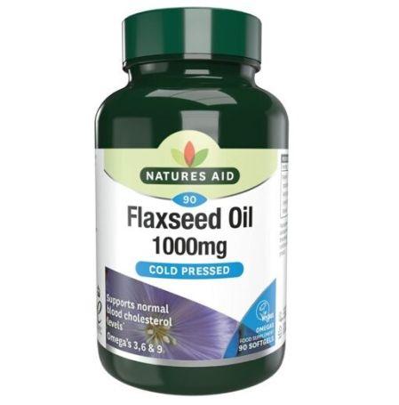 Natures Aid Aceite de Linaza Omega 3-6-9 100mg 60 cápsulas