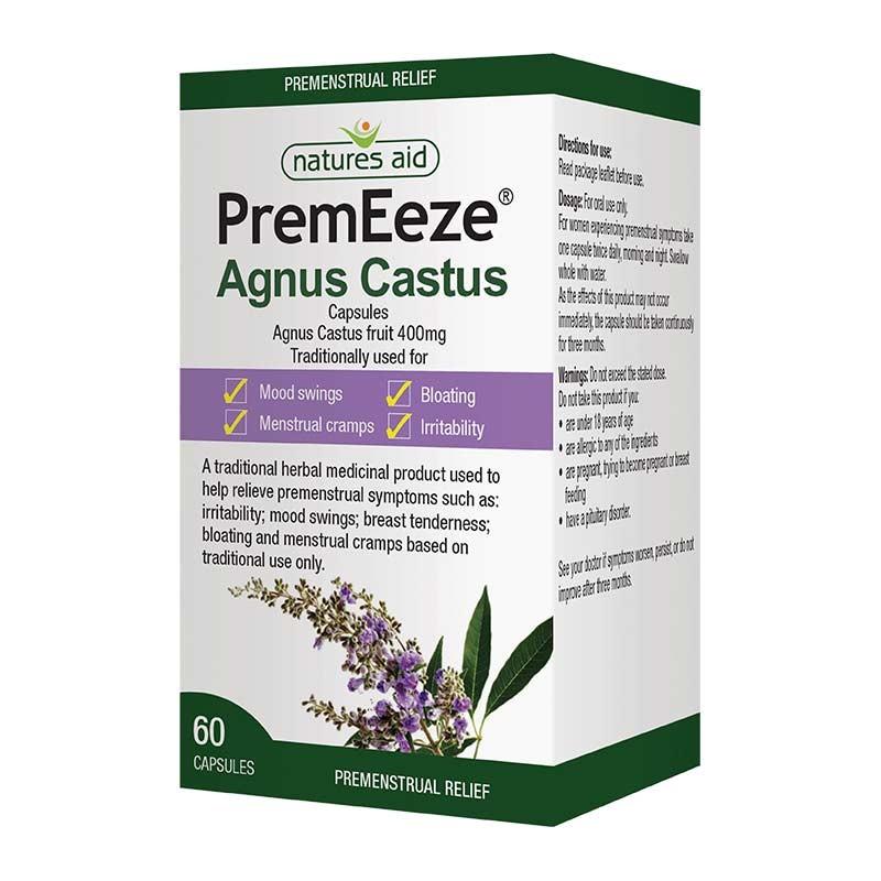 Prem Eeze Agnus Castus Síndrome Premenstrual 60 cápsulas