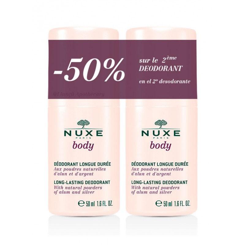 Nuxe Body Desodorante Larga Duración Roll-on 50ml x2 unidades