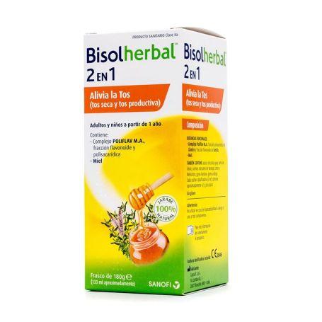 Bisolherbal 2 en 1 Jarabe para la Tos Seca y Productiva 133ml