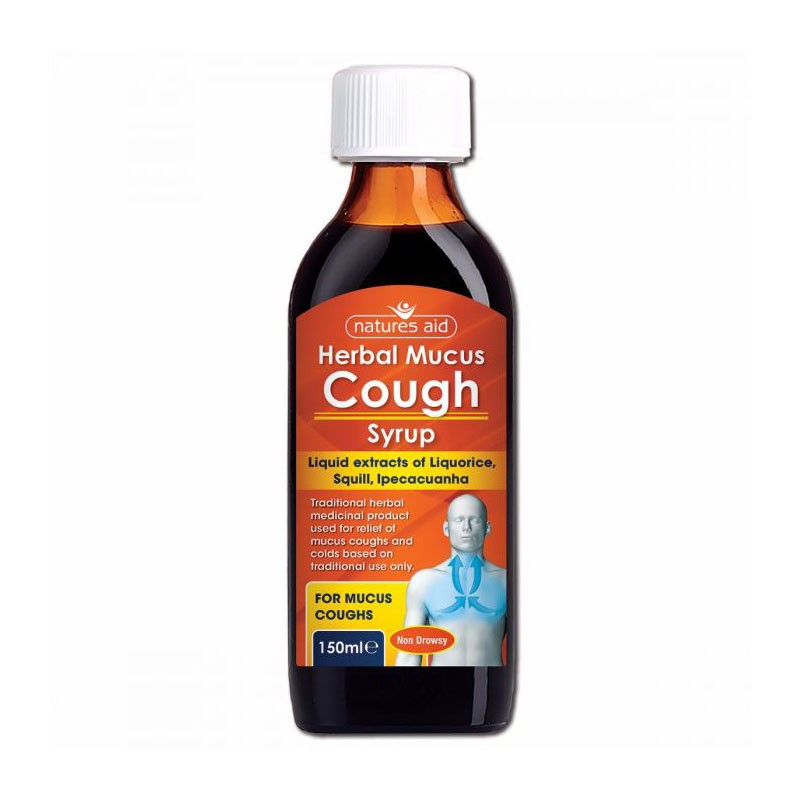 Natures Aid Herbal Mucus Cough Jarabe 150ml
