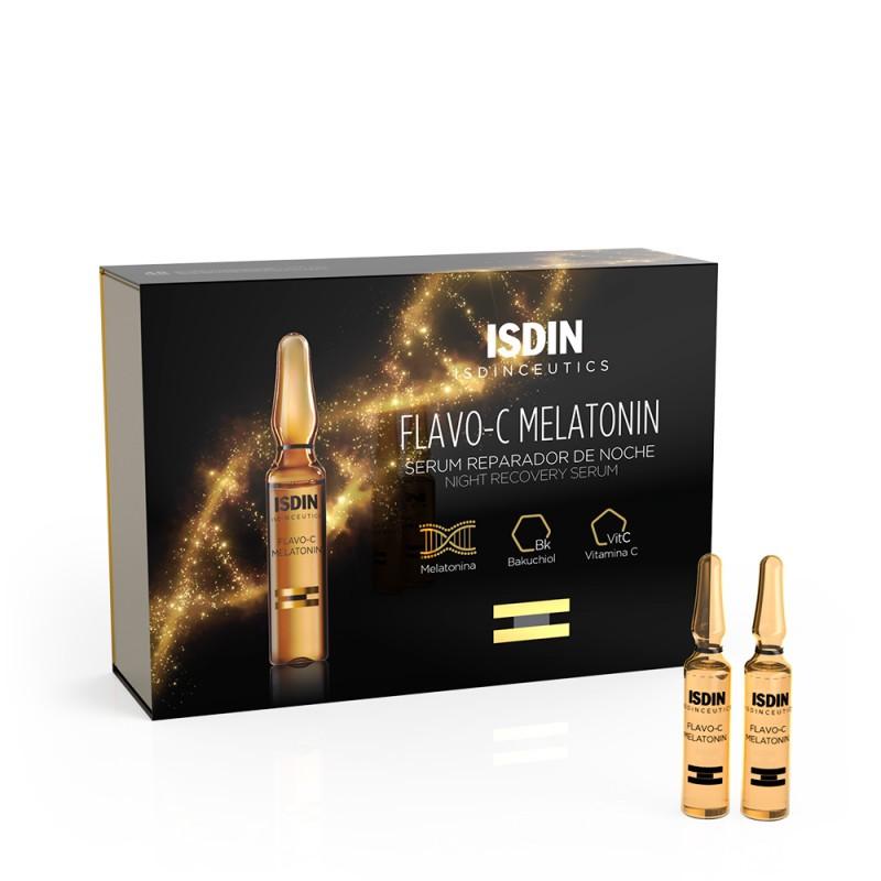 Isdin Flavo-C Melatonin Sérum Reparador de Noche 10 ampollas