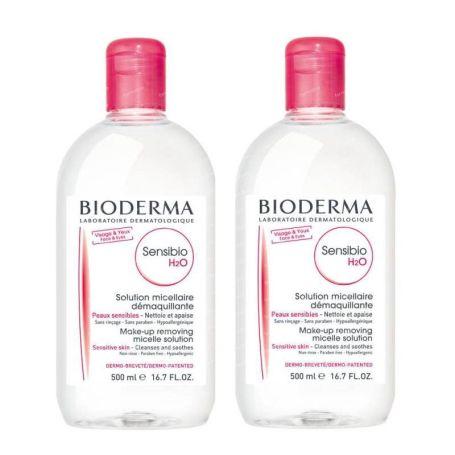 Bioderma Sensibio H2O Agua Micelar 500ml x2 unidades