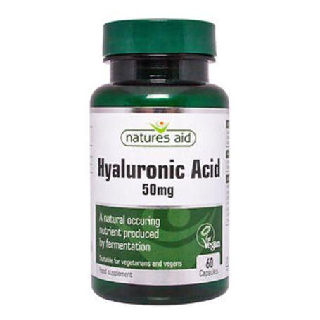 Natures Aid Acido Hialurónico 50mg 60 cápsulas