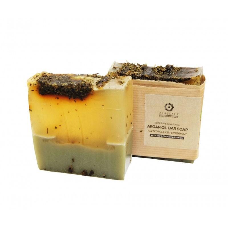 Alassala Argan Oil Bar Soap Jabón French Clay y Peppermint 100gr