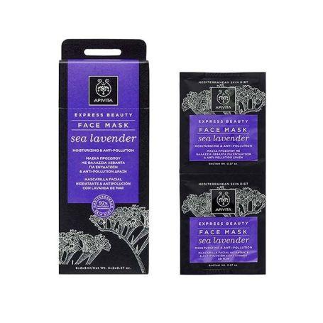 Apivita Face Mask Sea Lavender Mascarilla Facial Hidratante Antipolución 2ud