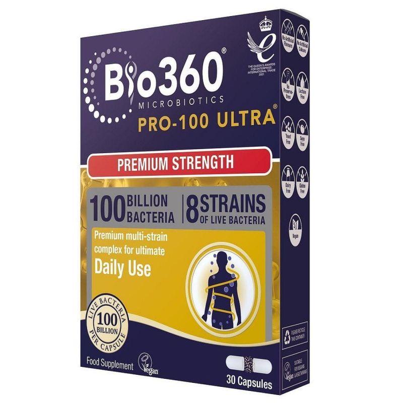 Natures Aid Pro-100 Ultra Probióticos 30 cápsulas