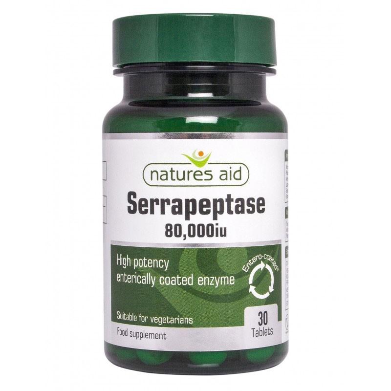 Natures Aid Serrapeptasa 80.000iu 30 cpr
