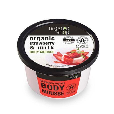 Organic Shop Mousse Corporal Fresa Orgánica y Leche 250ml