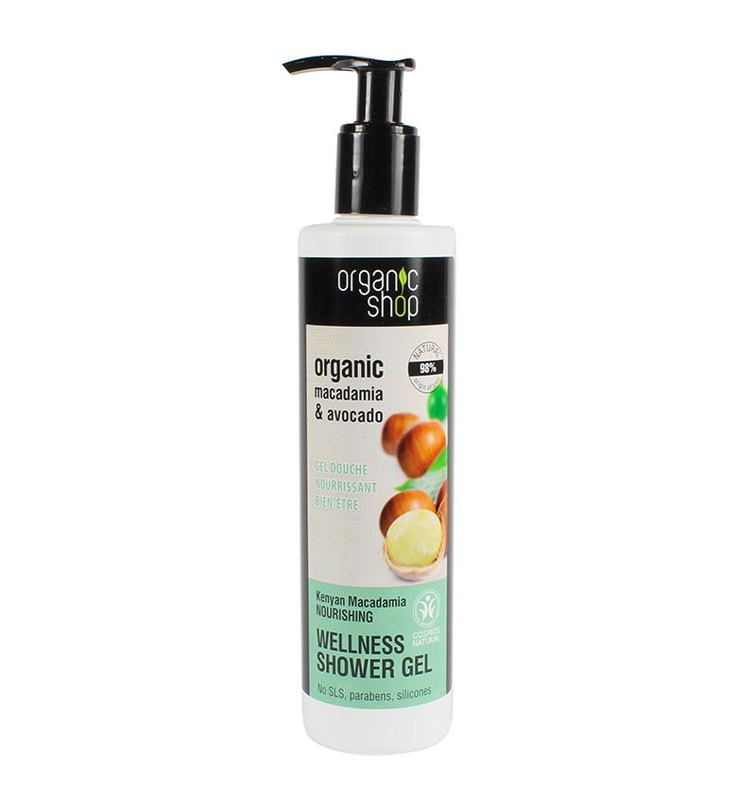 Organic Shop Gel de Ducha Macadamia y Aguacate 280ml