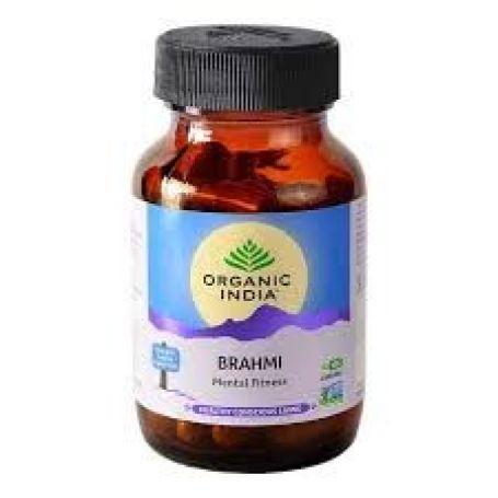 Organic India Brahmi Gotukola 90 cápsulas