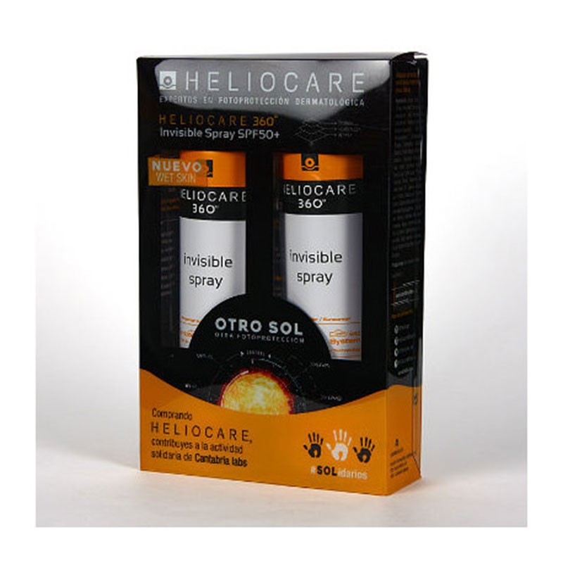 Heliocare 360 Invisible Spray SPF50 200ml Duplo