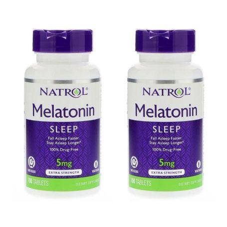 Natrol Melatonina 5mg Time Release 100 tabletas duplo