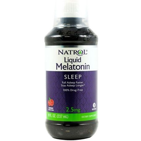 Natrol Melatonina Líquida 2.5mg Sabor Frambuesa 237ml