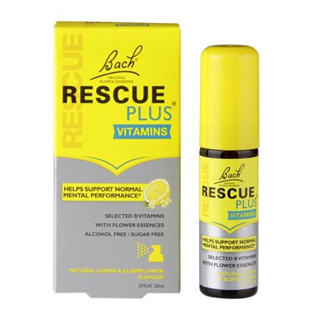 Bach Rescue Flores de Bach Plus Vitaminas Spray 20ml
