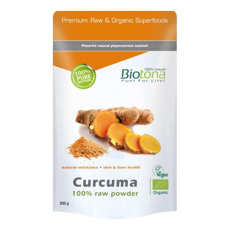 Biotona Cúrcuma Raw Powder Bio 200gr