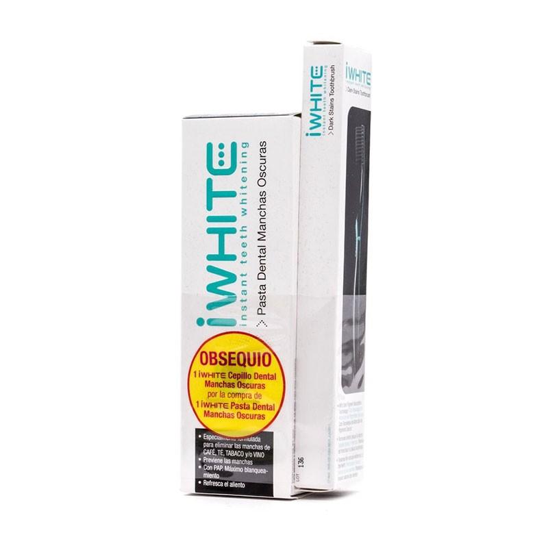 IWhite Pasta Dental Manchas Oscuras + Cepillo Dental de Regalo