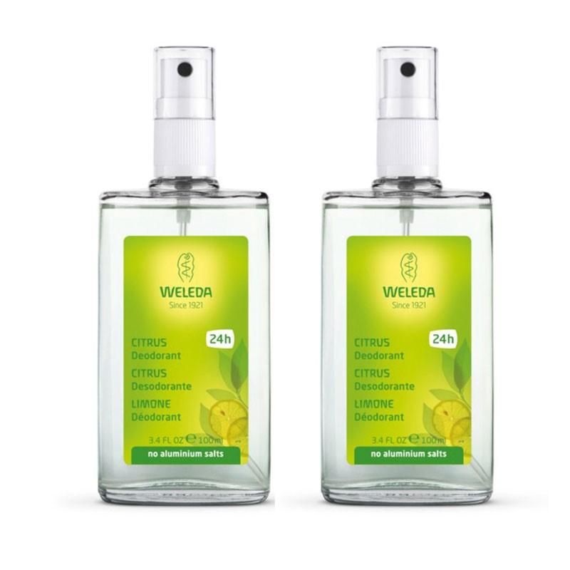 Weleda Citrus Desodorante 24h Spray 100ml x2 unidades