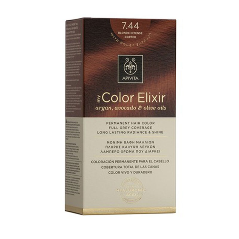 Apivita My Color Elixir 7.44 Blonde Intense Copper