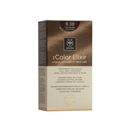 Apivita My Color Elixir 8.38 Light Blonde Gold Pearl