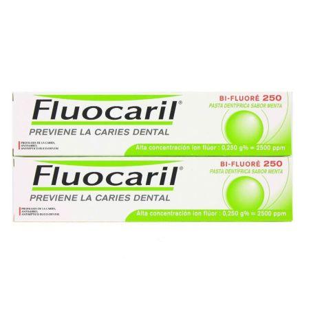 Fluocaril Bi-Fluore Dentífrico Menta 125 ml x2 unidades