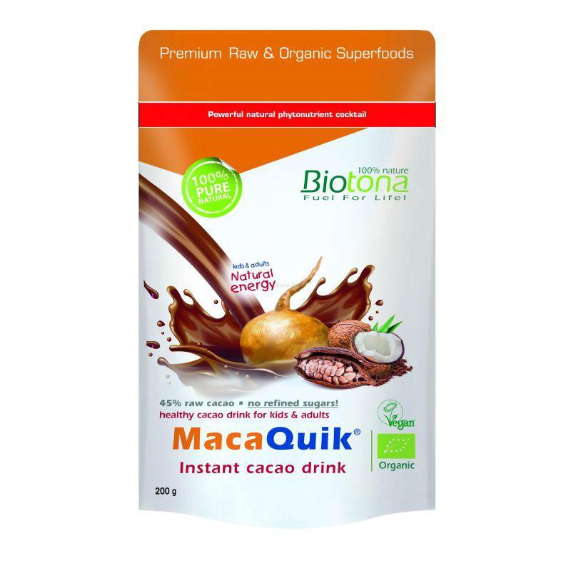 Biotona Maca Quik Bebida de Cacao Instántanea 200gr