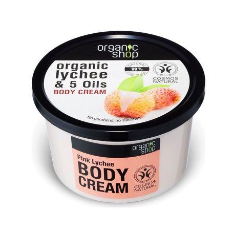 Organic Shop Crema Corporal de Lichi y 5 Aceites 250ml
