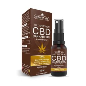 Natures Aid CBD Cannabidiol 10% Spray 10ml