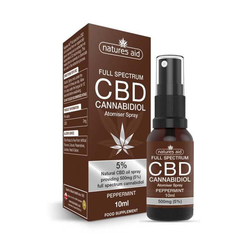 Natures Aid CBD Cannabidiol 5% Spray 10ml