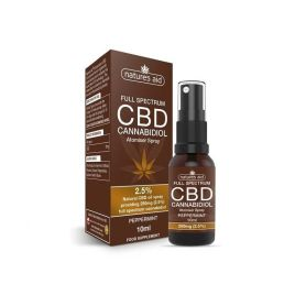 Natures Aid CBD Cannabidiol 2.5% Spray 10ml