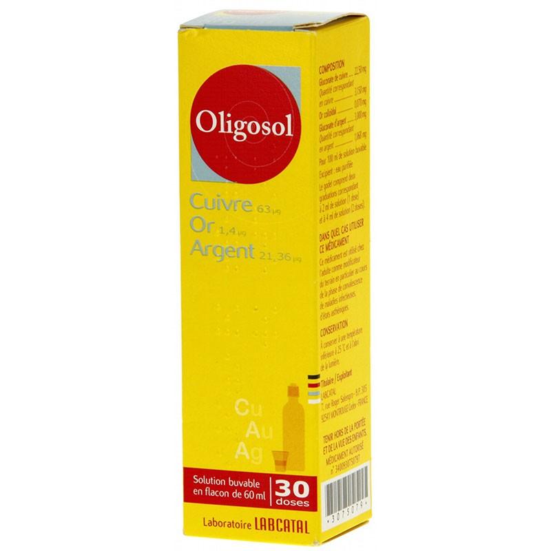 Oligosol Cobre Oro Plata 60ml