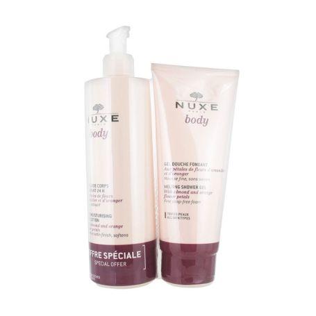Nuxe Body Leche Fluida Hidratante 24h 400ml + Gel de Ducha Pétalos de Rosa 200ml