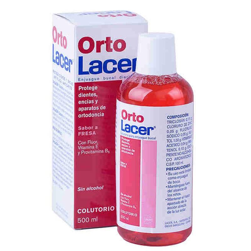 OrtoLacer Colutorio Ortodoncia Sabor Fresa 500ml