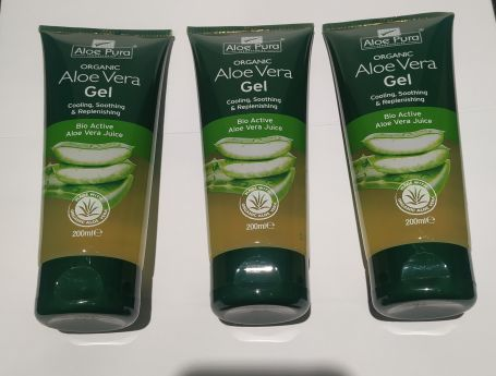 Optima Organic Aloe Vera Gel 200ml x3 unidades