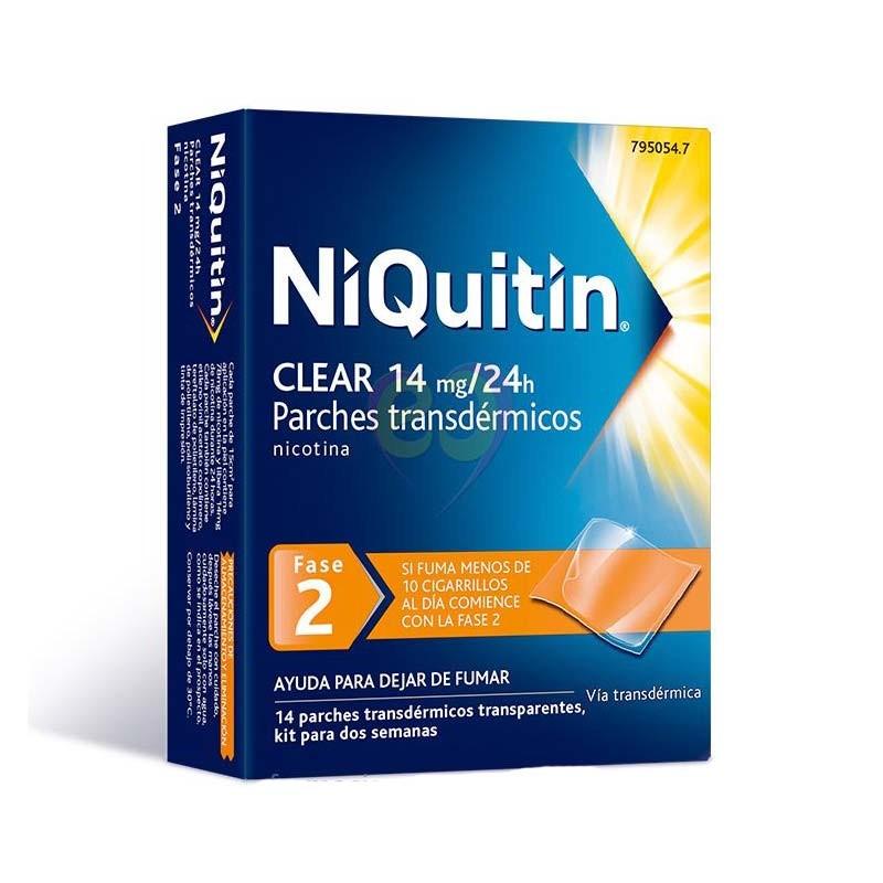 Niquitín Clear 14mg/24h Parches Transdérmicos Fase 2 14 parches