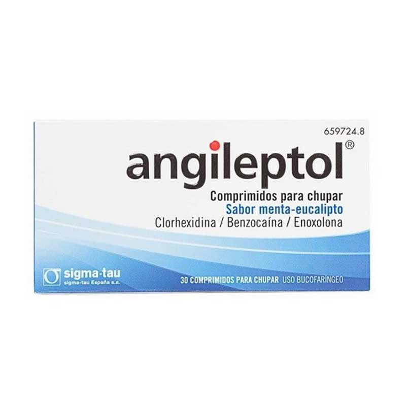 Angileptol Infecciones Garganta 30 comprimidos para chupar sabor menta-eucalipto