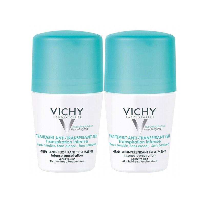 Vichy Desodorante Roll-on 48h Transpiración Intensa x2 unidades
