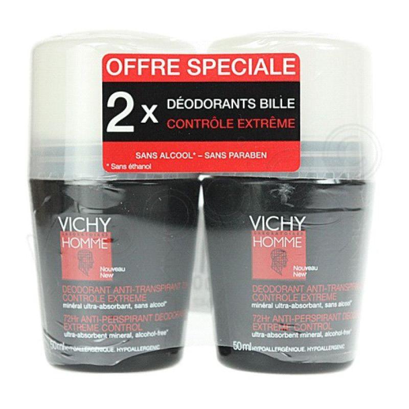 Vichy Homme Desodorante Roll-On 50 ml x2 unidades