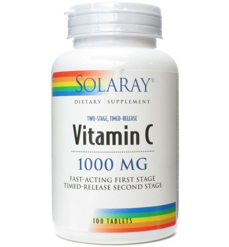 Solaray Vitamina C 1000 mg Retard 100 tabletas
