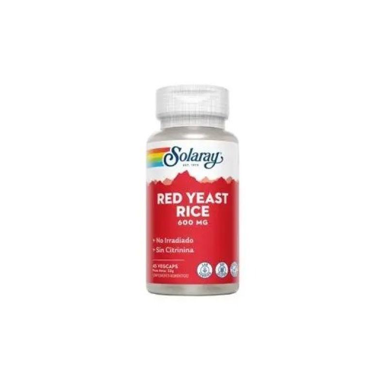 Solaray Red Yeast Rice 600mg 45 cápsulas