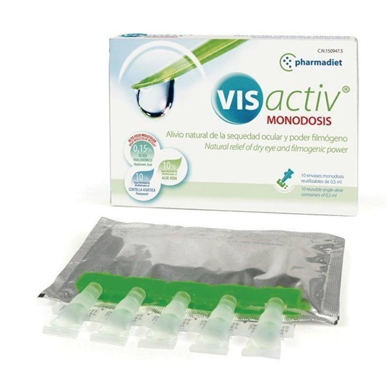 Visactiv Colirio Sequedad Ocular 10 viales