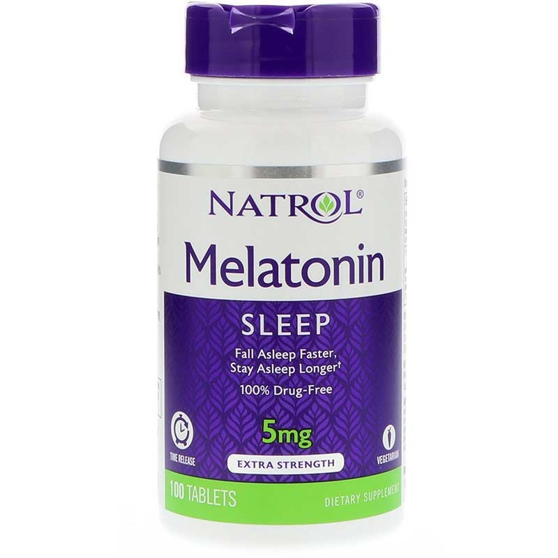 Melatonina Natrol 5mg Time Release 100 tabletas