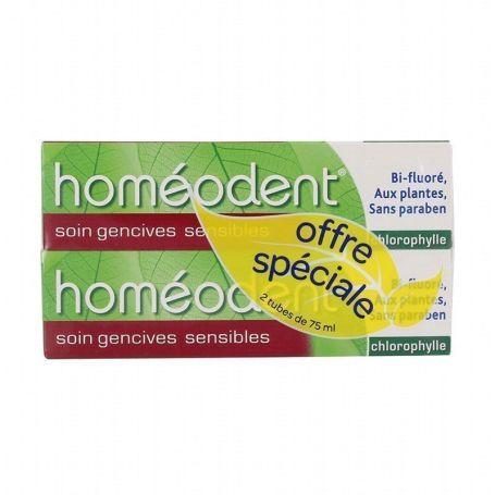 Boiron Homeodent Dentífrico Clorofila Encías Sensibles 75ml x2 unidades