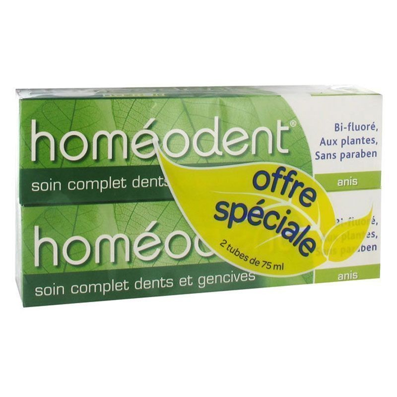 Boiron Homeodent Dentífrico Anís 75ml x2 unidades