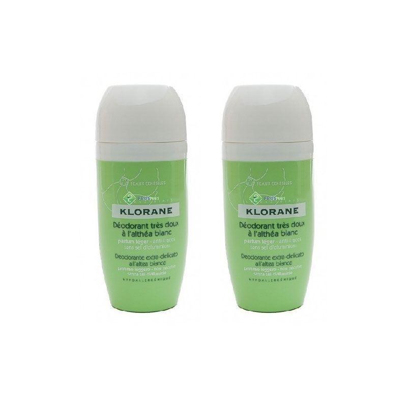 Klorane Desodorante Roll-on 40ml x2 unidades