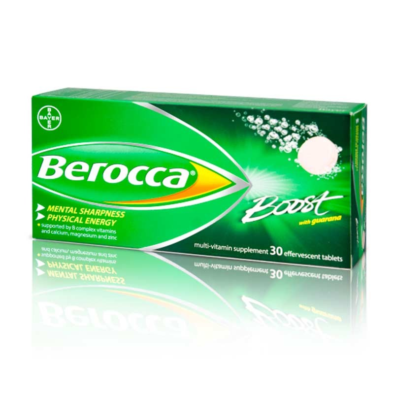 Berocca Boost con Guaraná 30 comprimidos efervescentes