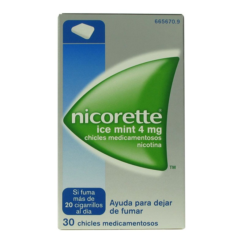 Nicorette Ice Mint 4mg 30 chicles de nicotina