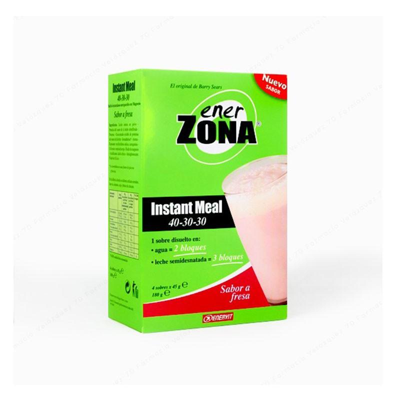 Ener Zona Instant Meal Sabor Fresa 4 sobres