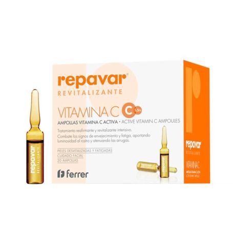 Repavar Revitalizante Ampollas Vitamina C Activa 20 ampollas